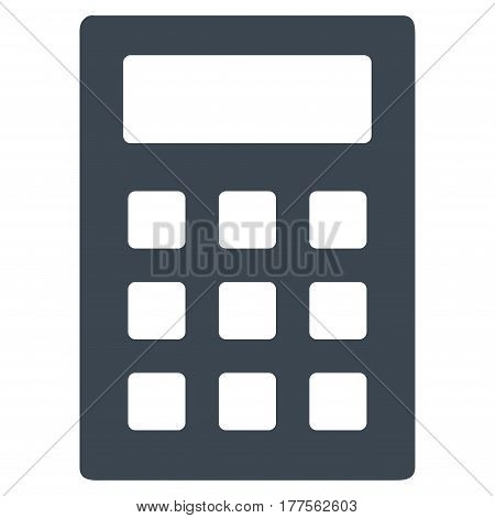 Calculator vector icon. Flat smooth blue symbol. Pictogram is isolated on a white background. Designed for web and software interfaces.