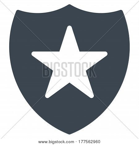 Guard Shield vector icon. Flat smooth blue symbol. Pictogram is isolated on a white background. Designed for web and software interfaces.