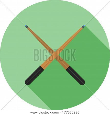 Cue, casino, pool icon vector image. Can also be used for casino. Suitable for use on web apps, mobile apps and print media.
