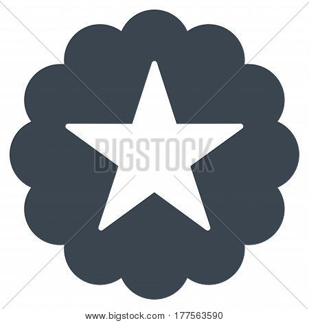 Star Quality Sticker vector icon. Flat smooth blue symbol. Pictogram is isolated on a white background. Designed for web and software interfaces.