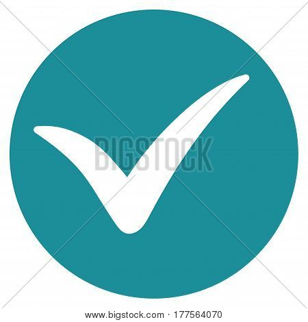 Apply vector icon. Flat soft blue symbol. Pictogram is isolated on a white background. Designed for web and software interfaces.