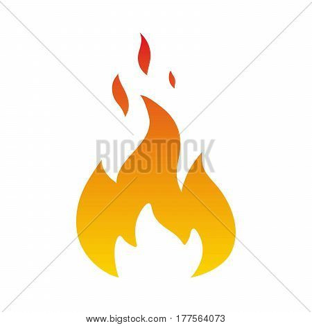 flame color icon on a white background