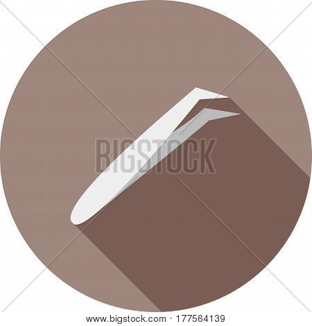 Pliers, medical, cotton icon vector image. Can also be used for dentist equipment. Suitable for mobile apps, web apps and print media.