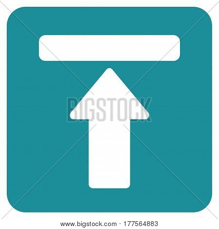 Expand Menu vector icon. Flat soft blue symbol. Pictogram is isolated on a white background. Designed for web and software interfaces.