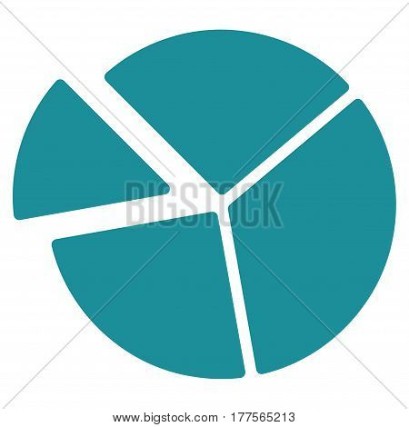 Pie Chart vector icon. Flat soft blue symbol. Pictogram is isolated on a white background. Designed for web and software interfaces.