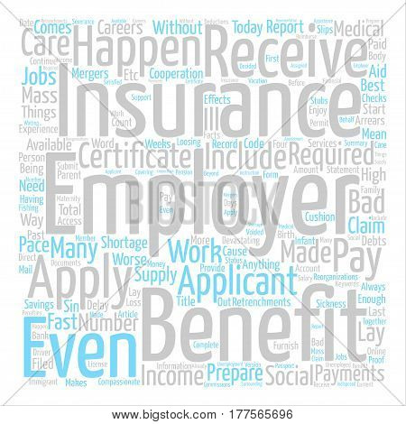 About Employment Insurance text background word cloud concept
