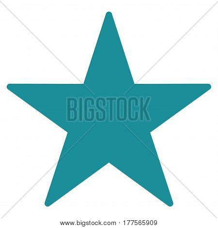 Star vector icon. Flat soft blue symbol. Pictogram is isolated on a white background. Designed for web and software interfaces.