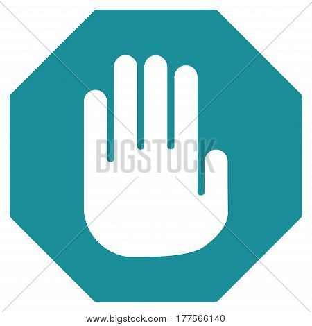 Terminate vector icon. Flat soft blue symbol. Pictogram is isolated on a white background. Designed for web and software interfaces.