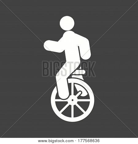 Unicycle, circus, monocycle icon vector image. Can also be used for city lifestyle. Suitable for web apps, mobile apps and print media.