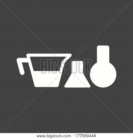Chemistry, equipment, laboratory icon vector image. Can also be used for chemistry. Suitable for use on web apps, mobile apps and print media.