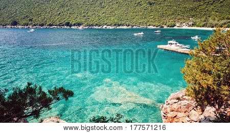 Sea View  Zanjic beach peninsula  Lustica Adriatic Sea Montenegro.