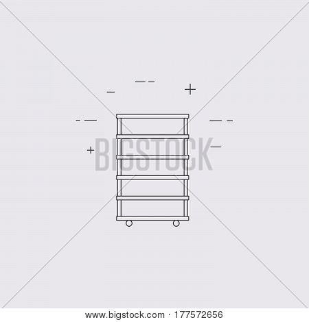 Shelf Vector Line Icon
