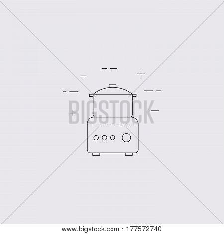Food Processor Line Icon.