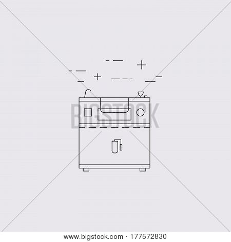 Commercial Kitchen Equipment  Line Icon