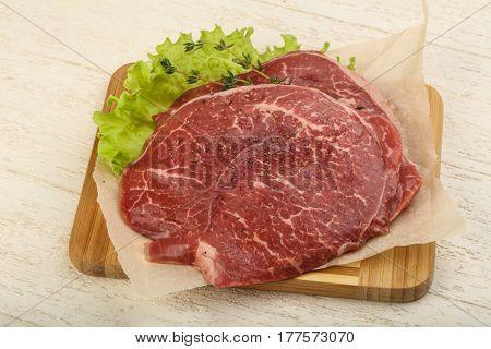 Raw Beef Schnitzel