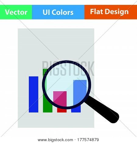 Magnificent Glass On Paper With Chart Icon