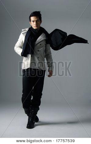 Asian male model posing shot in studio