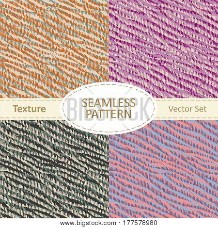 Collection of seamless pattern backgrounds or texture