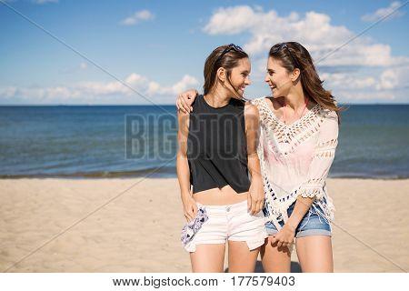 Best Friends On Beach