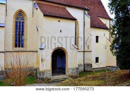 Old medieval saxon lutheran church in Sighisoara, Transylvania, Romania