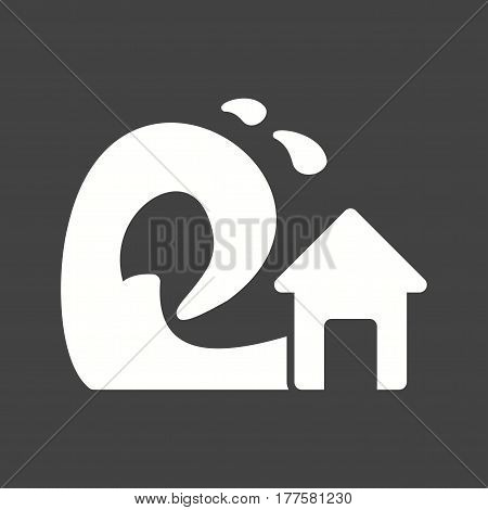 Tsunami, wave, sea icon vector image. Can also be used for disasters. Suitable for mobile apps, web apps and print media.