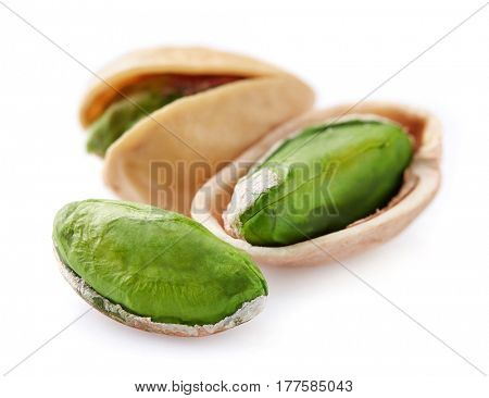 Pistachio nuts in closeup