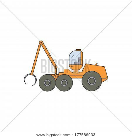 Forest Harvester Line Vector Icon