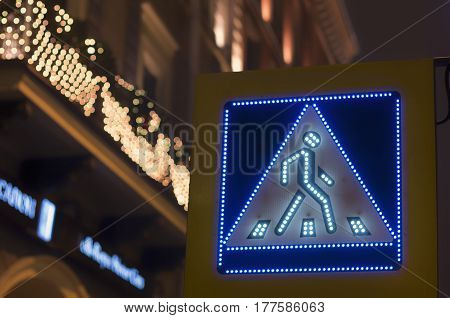 Led road sign