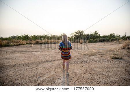 Traveler Woman Journey in Nature