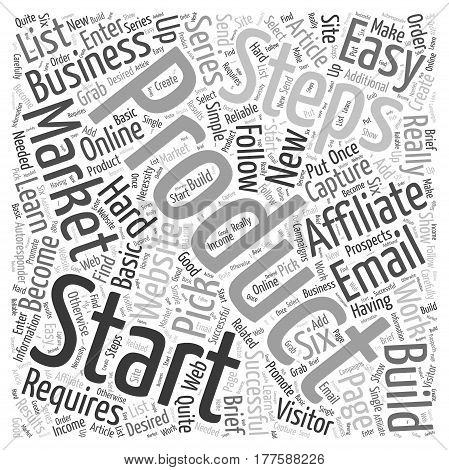 Affiliate Marketing How to get started in easy steps Word Cloud Concept