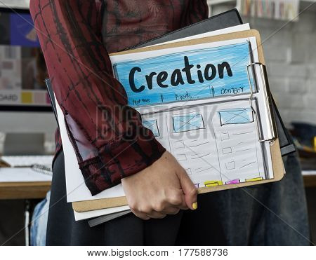 Creative Thinking Webpage Graphic Design Template