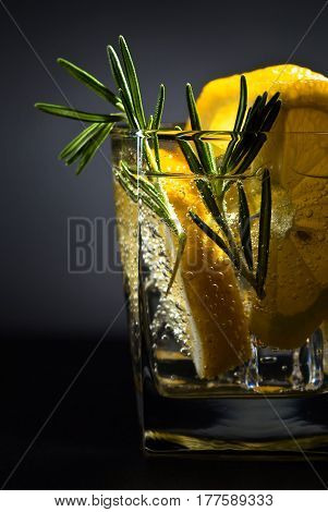 Drink With Tonic, Lemon And Rosemary