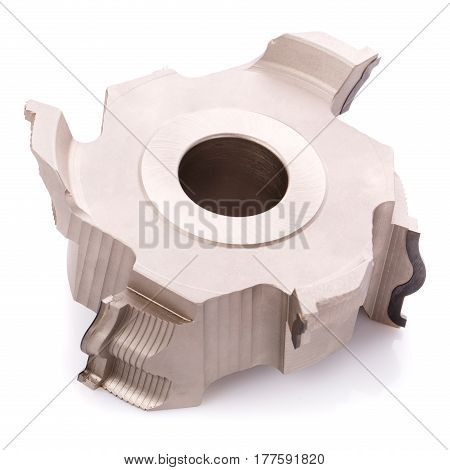milling cutter head for wood processing isolated on white background