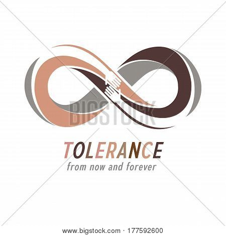 Racial Tolerance Between Different Nations Conceptual Symbol, Martin Luther King Day, Zero Tolerance