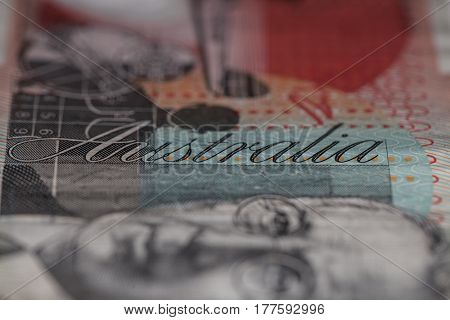 Detail Of Australian Twenty Dollar Note.