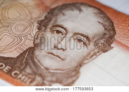 Portrait Of Andres Bello In Currency