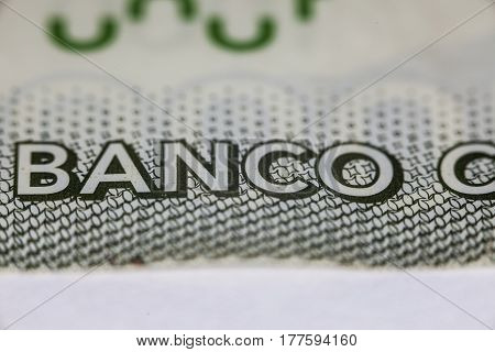 Inscription, Banco In Chilean Currency