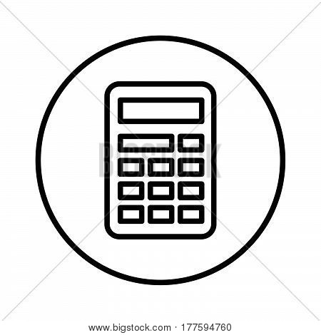 a Simple thin line calculator icon vector