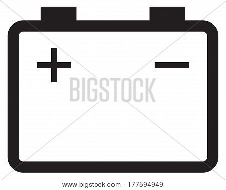 Battery accumulator icon minus sign subtraction plus sign