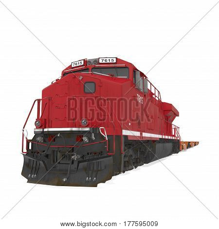 Cargo train on white background. 3D illustration