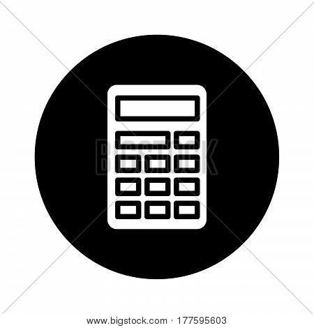 a Simple flat black calculator icon vector..