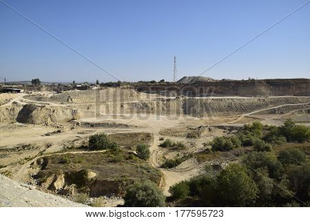 Large Quarry For Gravel Mining, Sand And Clay. Mining Machines And Units. Mining