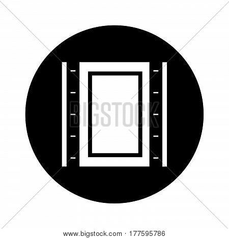 Flat Black Photo Cliche Icon