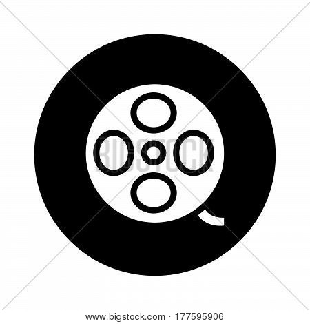 Flat Black Film Roll Icon