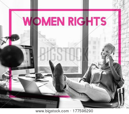 Woman Equality Gender Rights Liberation poster