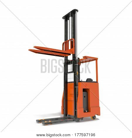 Rider stacker isolated on white background. 3D illustration