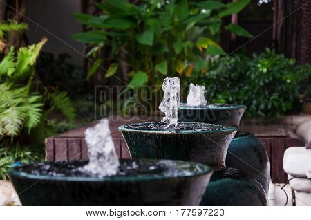 fountain isolate water home ancient antique art bright buiding decoration design drop fount fresh