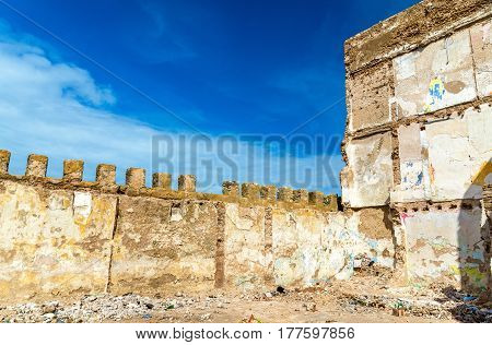 Architectural details of old Essaouira town - Morocco