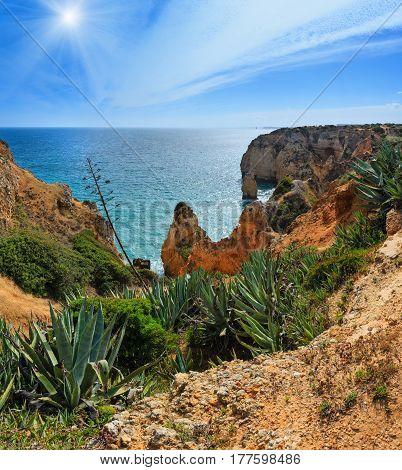 Atlantic Rocky Sunshiny Coastline (algarve, Portugal).