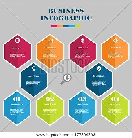 Business Infographic Hexagon